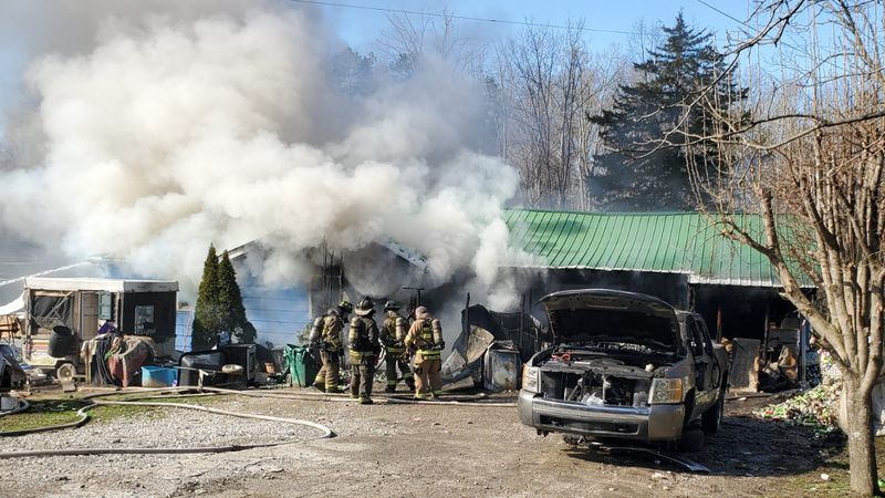 According to the sheriff's office, the fire happened Thursday morning at a home in the 8000...
