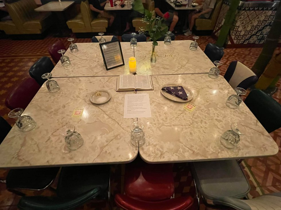 Knoxville Chuy's displays table honoring 13 killed in Afghanistan