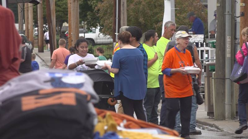 Community members fought the rain to pour into Prestonsburg for day three of the 2021 festival.