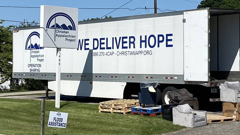 The Christian Appalachian Project handed out much-needed items to flood victims in Rockcastle...