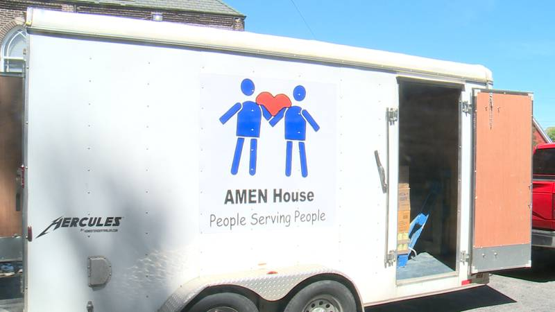 Andi and Mark Smith generously donated one ton of food to the AMEN House and are challenging...