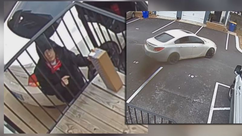 One Bowling Green couple caught an alleged thief on their Ring camera as he snatched two...