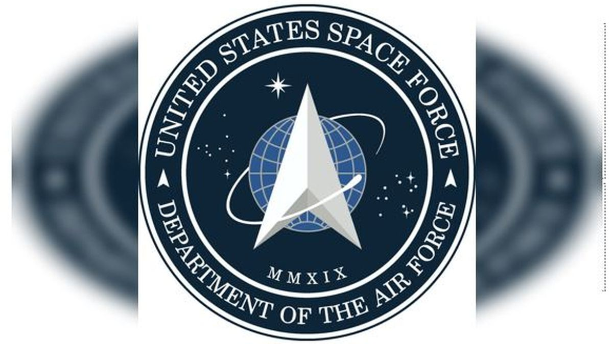 President Donald Trump unveiled the Space Force logo Friday. (Source: @realDonaldTrump/Twitter)