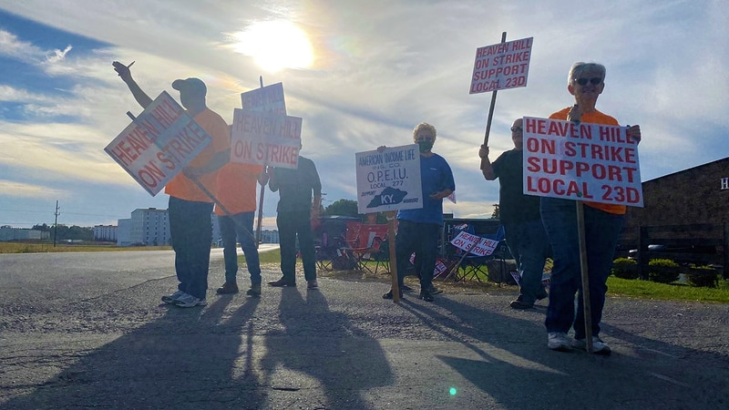 More than 400 union employees have walked off the job at Heaven Hill demanding contract...