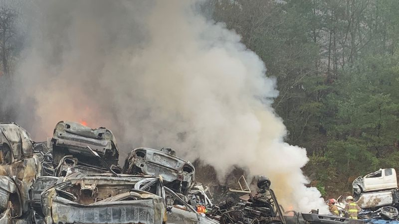 A fire at a scrap yard in Prestonsburg broke out Monday afternoon.