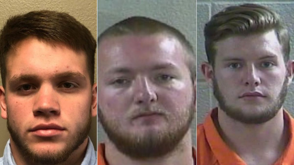 David O. Griffith, Toby Glen Harrison and Noah A. Blevins were charged, along with a 17-year-old, after video of a dog being abused went viral. // Laurel County Detention Center