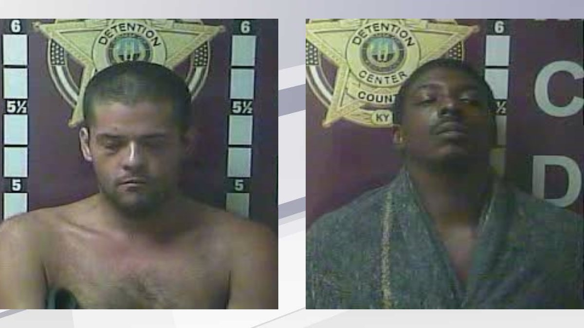 Cammie Neeley (l,) and James Chenault (r,) face multiple charges after a traffic stop in...