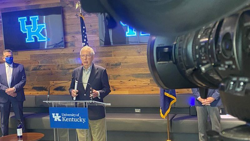 Senate Minority Leader Mitch McConnell applauded the state's efforts Monday morning at UK's...
