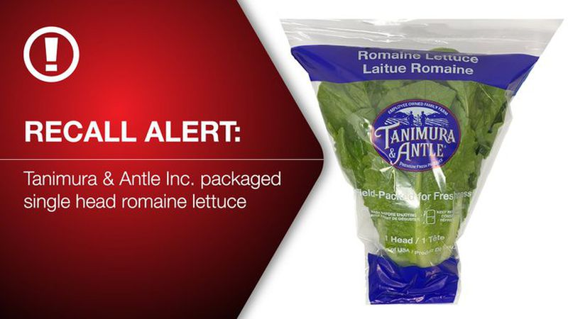 Tanimura and Antle is recalling nearly 3,400 cartons distributed in 19 states and Puerto Rico...