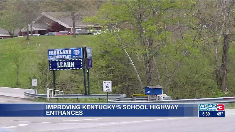 Improving highways near Kentucky school entrances