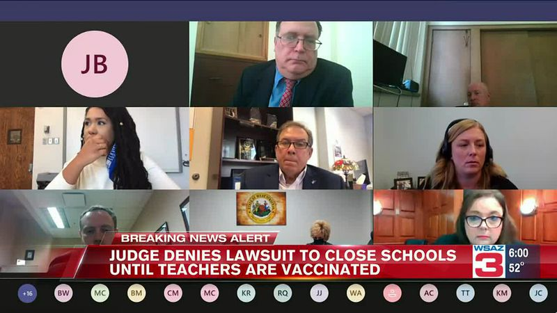 Judge Carrie Webster hears arguments from West Virginia teacher's unions and the Department of...