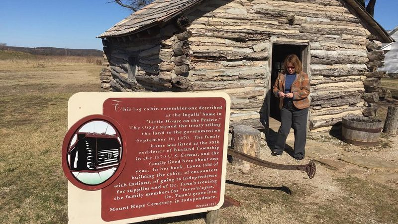 """The cabin at the """"Little House on the Prairie"""" site is a re-creation built..."""