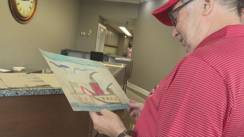 Artwork from 1958 returned to owners 62 years later.
