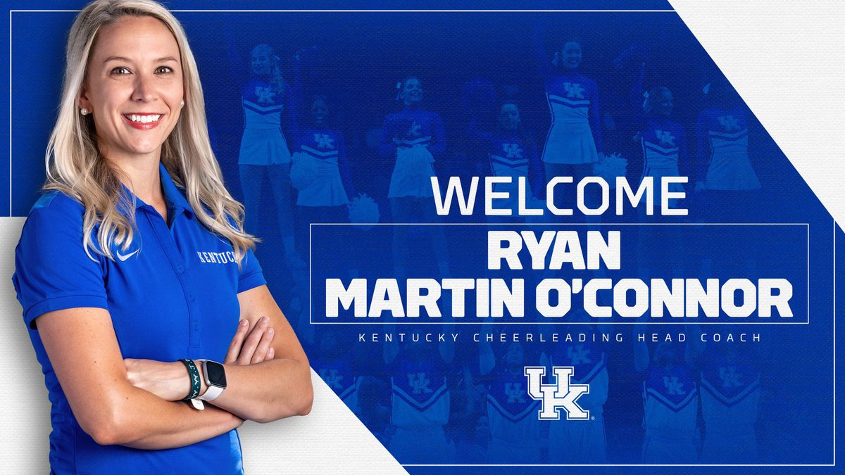 In a press release on Tuesday, UK Athletics announced that Ryan Martin O'Connor will be the new head coach of Kentucky's cheerleading program.