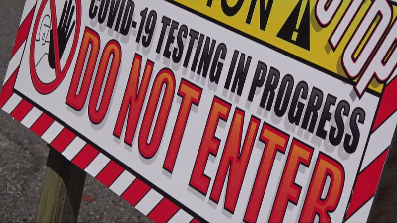 COVID-19 testing sites report increase in cases