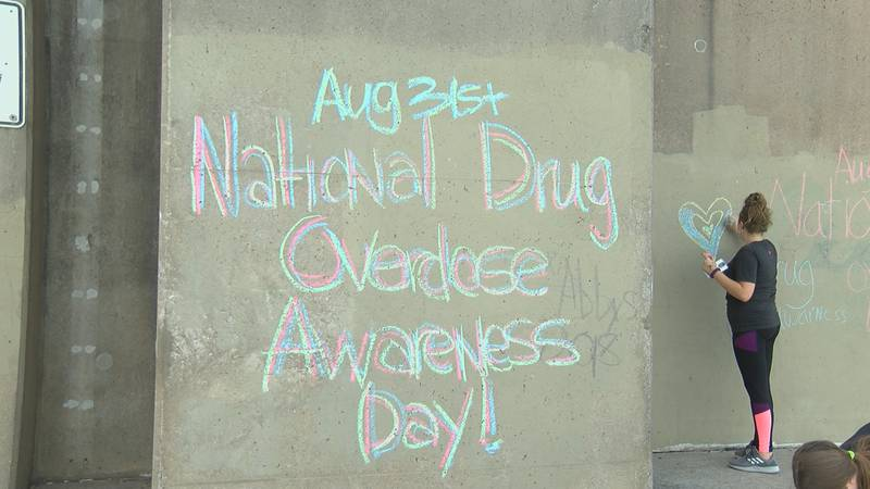 A group in Cape Girardeau, Mo. is writing the names of loved ones they've lost to drugs on the...