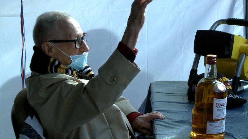 At 100-years-old Monnie Lusky still lives on his own and drives his own car.