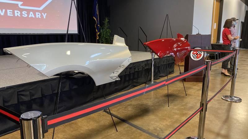New 2021 Corvette colors on display at Corvette Museum.