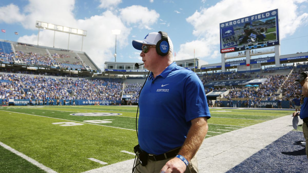 Mark Stoops<br /><br />UK football beats Murray State 48-10.<br /><br />Photo by Britney Howard...