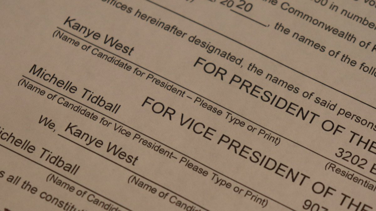 Secretary of State Michael Adams tweeted a photo of the paperwork Friday afternoon.