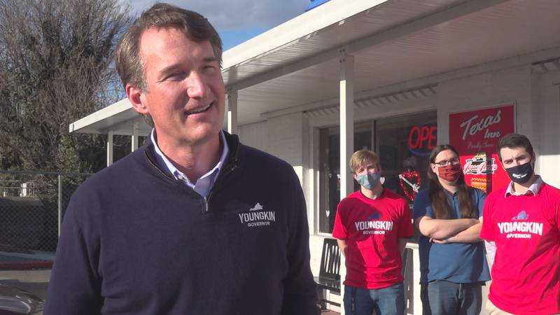 Republican candidate for Governor Glenn Youngkin focuses on the campaign ahead after winning...