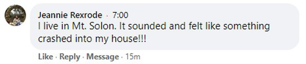 Reaction to this morning's explosion from WHSV viewers on our Facebook page.