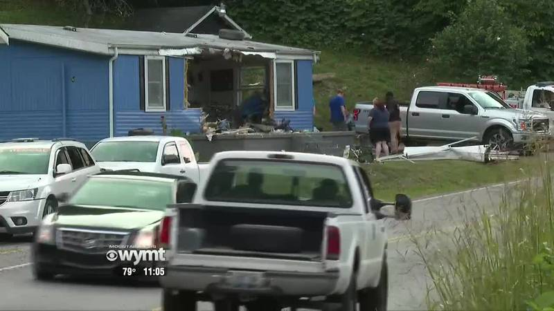 Truck drives into home in Combs - 11:00 p.m.