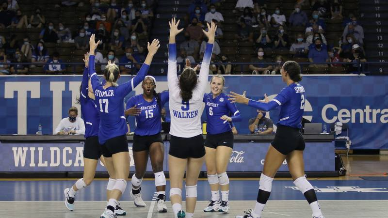 UK Volleyball hosted fans at Memorial on Sunday.
