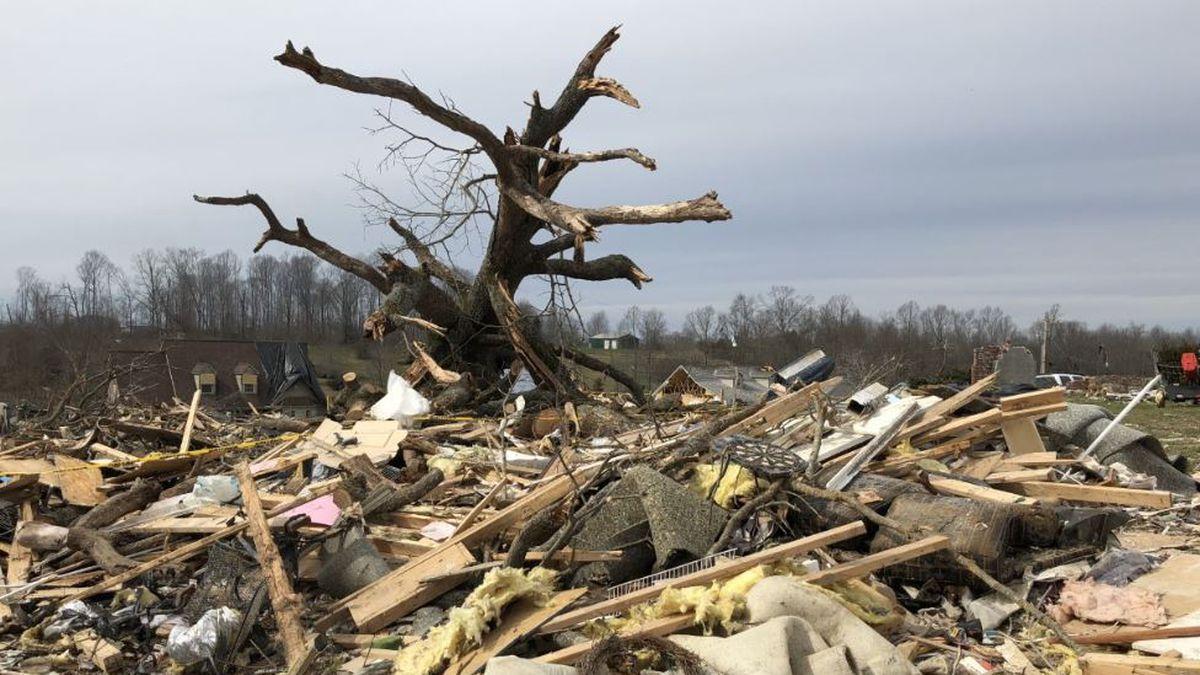 Tornado damage in Putnam County / Source: WVLT