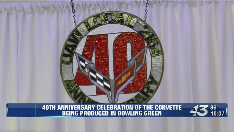 40th Anniversary Celebration of the corvette being produced in Bowling Green