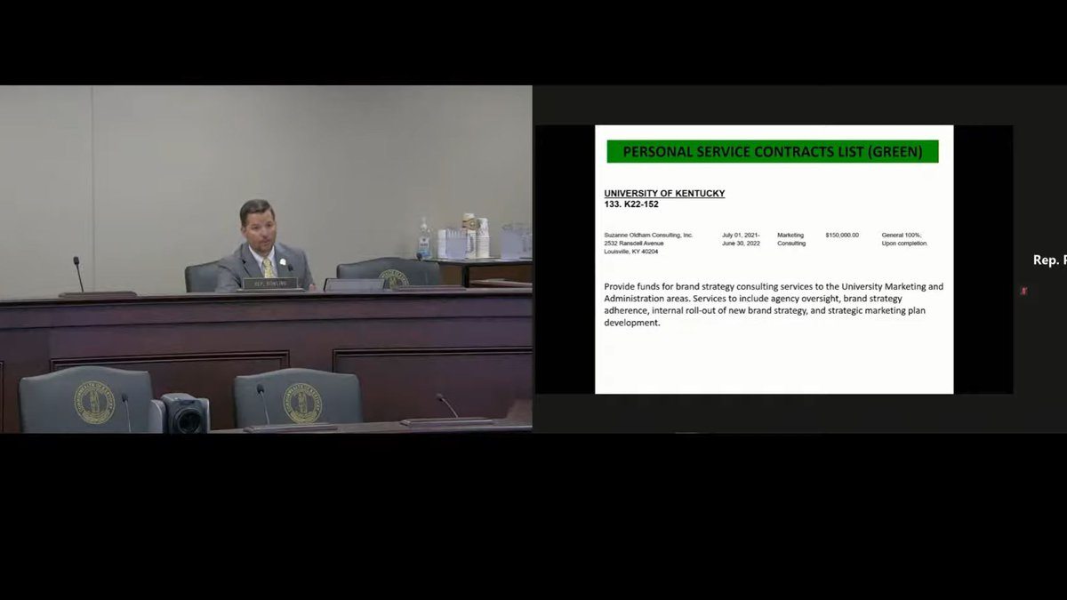 Photo Courtesy: KY LRC Committee Meetings YouTube