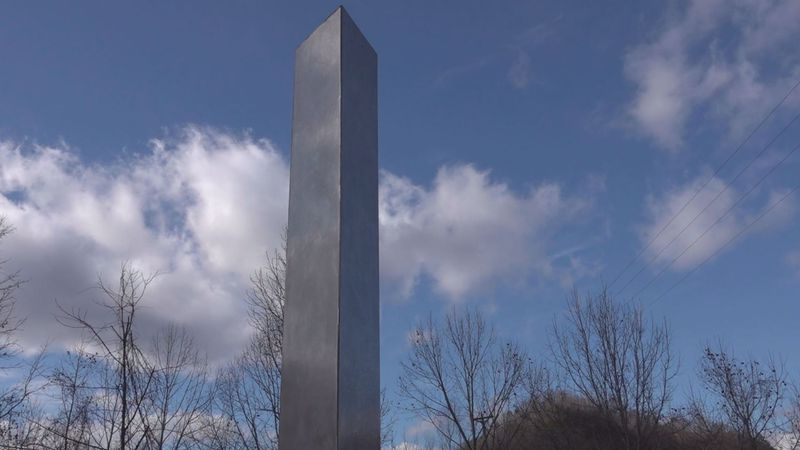 A structure that resembles the monoliths appearing around the globe was spotted in Prestonsburg...