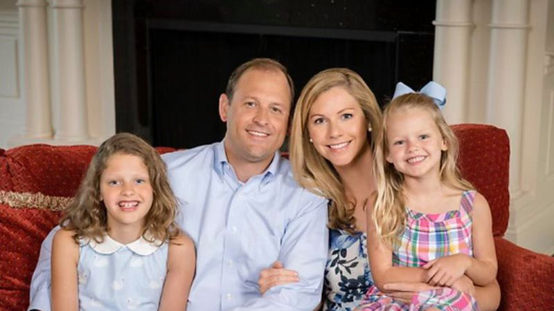 Andy Barr with wife, Carol and two daughters.