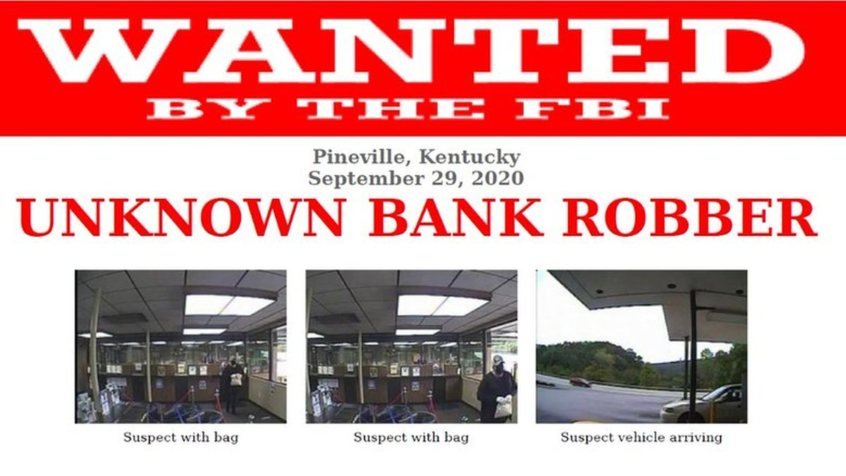 Suspect wanted for robbing Community Trust Bank in Pineville.