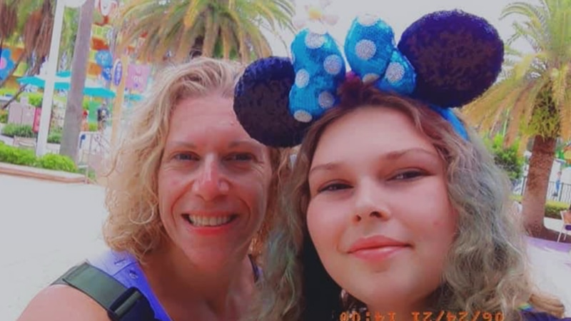 Allison Tinsley, 13, and her family went to Disney World for a special reason to celebrate the...