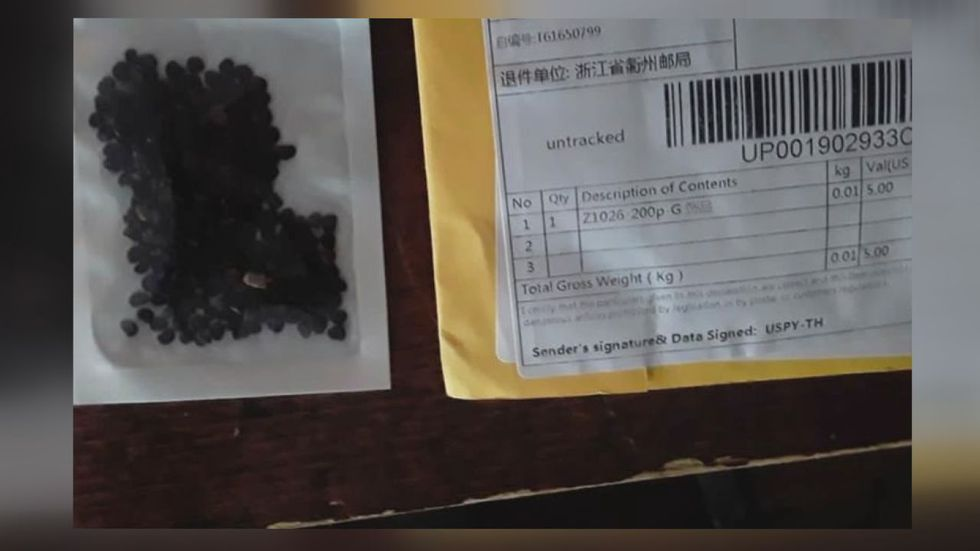 Seeds and packaging Logan Co. woman received from China back in June.