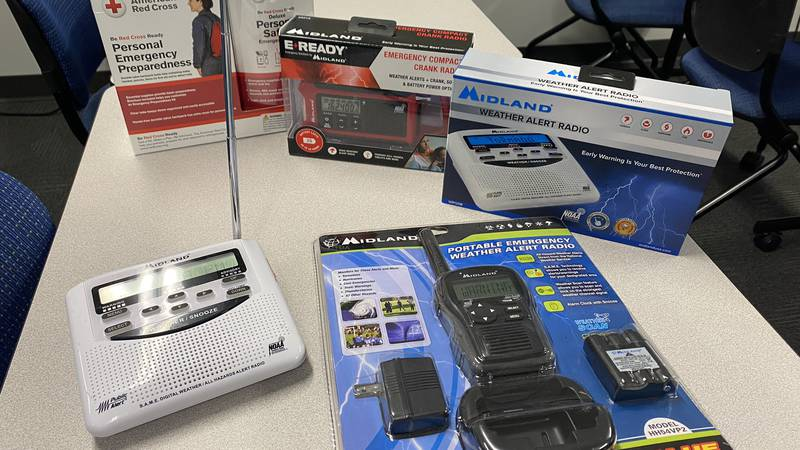 """""""The most important appliance in the home today is a NOAA weather radio,"""" said John Bobel with..."""