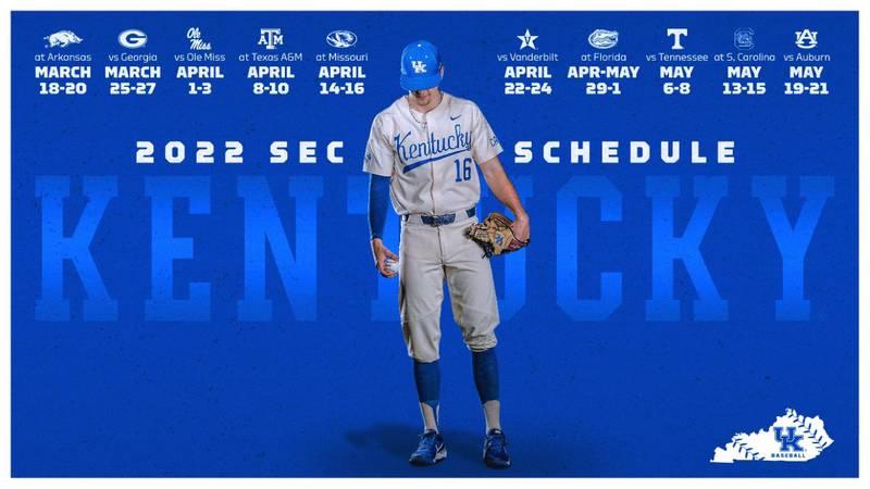 Kentucky Baseball Releases 2022 SEC Schedule