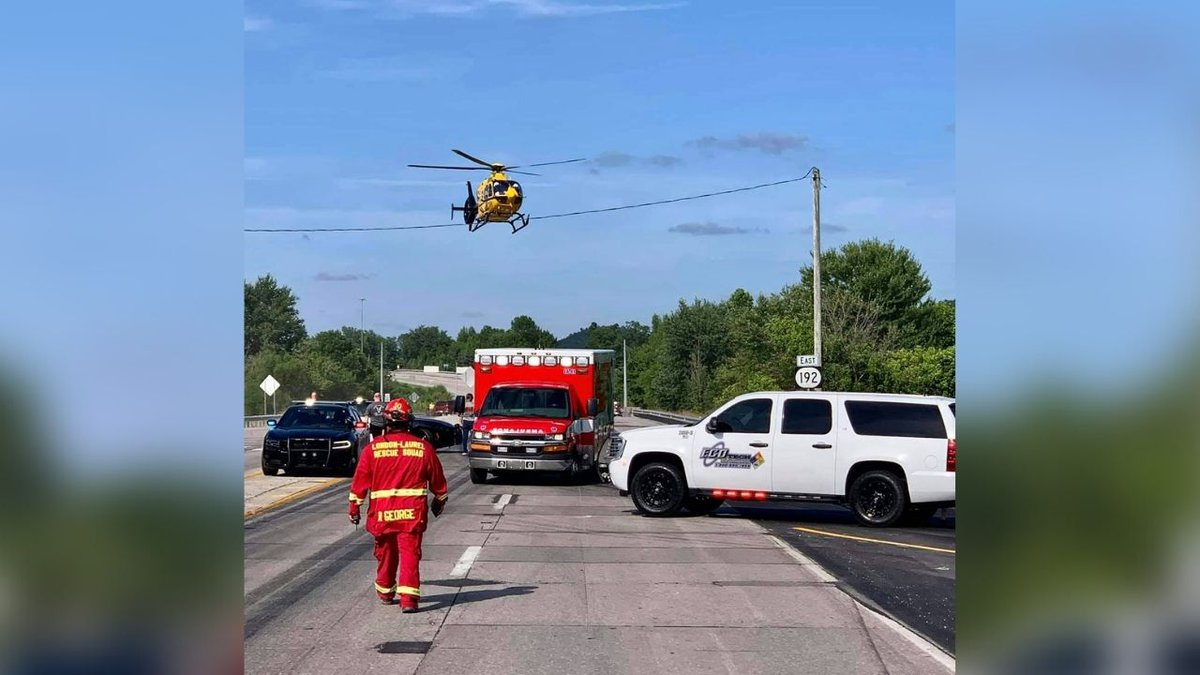 One flown to hospital after Laurel County head-on crash