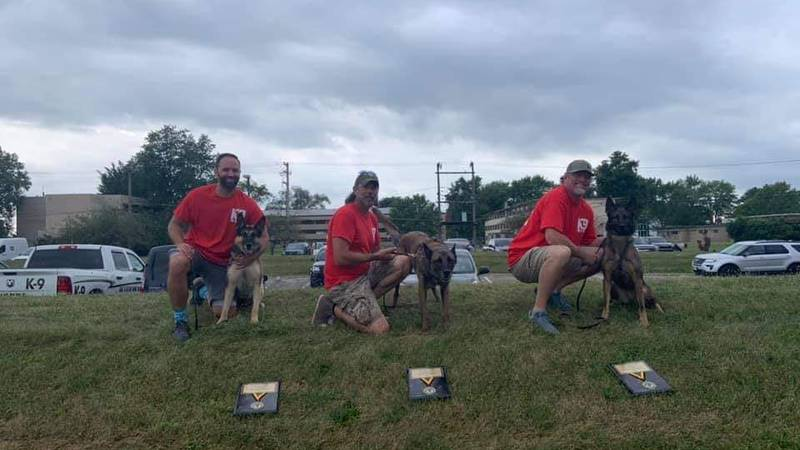LMPD officers Maverick, Ripley, and Luna participated in the 2021 K9 Olympics, taking place at...