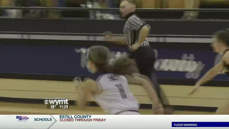 Knott Central girls basketball