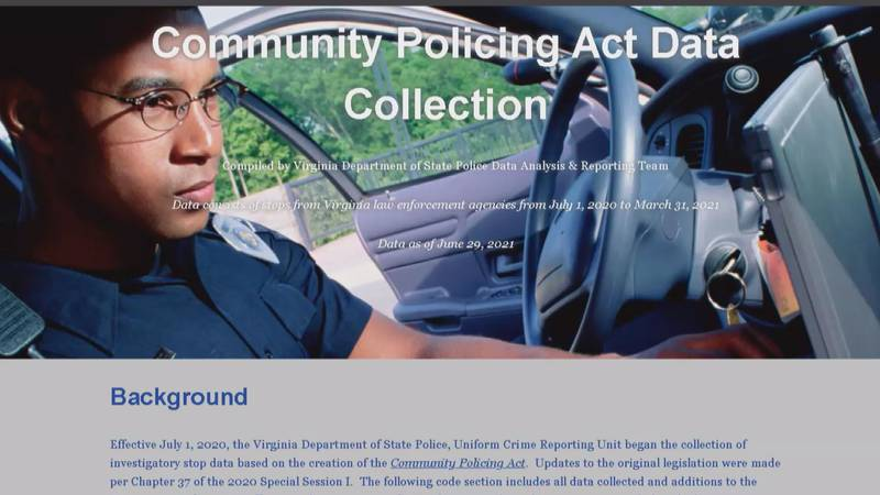 A new online portal allows Virginians to view data on traffic stops in the state.