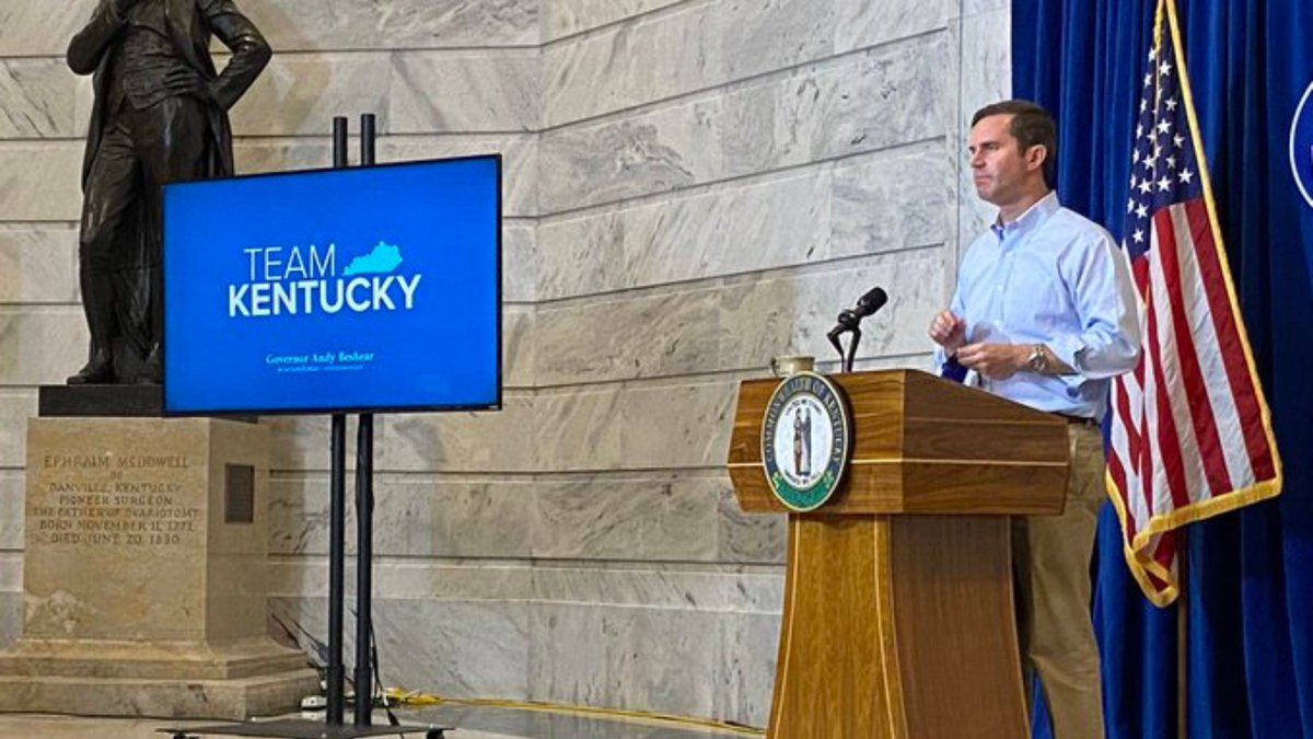 Gov. Beshear gives an update on COVID-19 in Kentucky.