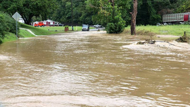 The Cowpen area of Pike County are flooding after heavy rainfall Monday morning