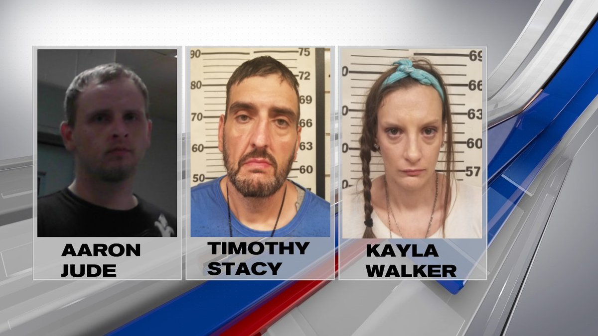 Three people were arrested on various charges after a traffic stop in Crum, Wayne County...