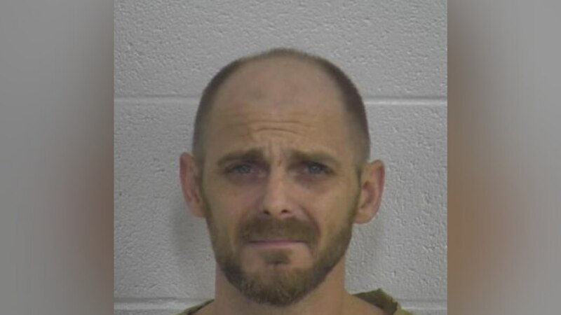 Larry Casteel is accused of throwing a plastic crate at a woman, cutting her under her eye...