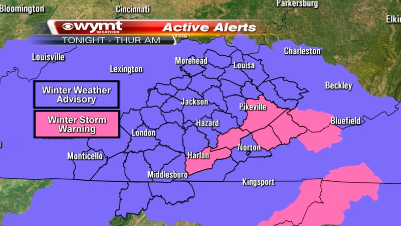 A Winter Weather Advisory has been issued for most of our counties. Our mountain counties are...