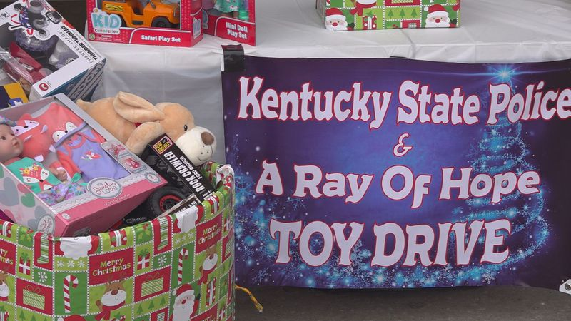 KSP and A Ray of Hope worked together Friday and Saturday to collect toys for kids this...