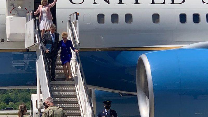 First Lady Jill Biden arrives in West Virginia