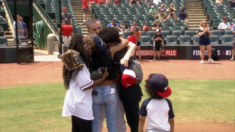 It was a warm welcome home for a US Army First Sergeant during Sunday afternoon's Louisville...